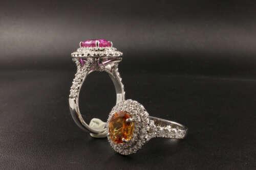 Anello Zaffiri Fancy Color - Ring sapphire Fancy Color