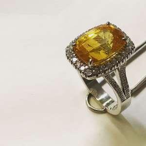 Anello con Zaffiro Lemon - Ring Lemon sapphire