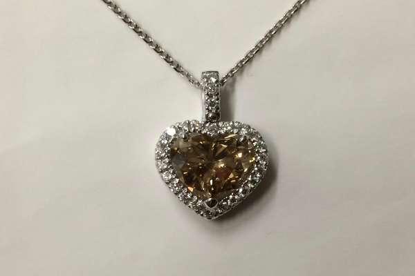 Pendente a Cuore - Pendant diamond cut heart